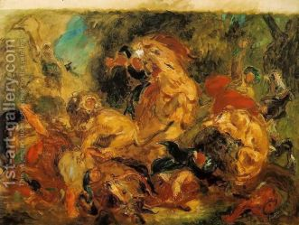 "Eugene Delacroix, ""The Lion Hunt"" (1854)"