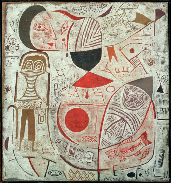 "Paul Klee, ""Printed Sheet with Pictures"" (1937)"