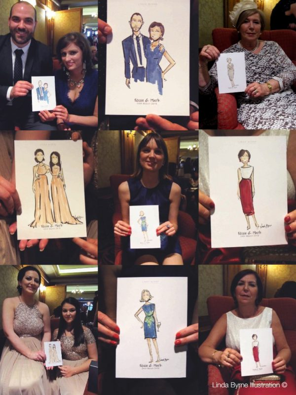Live Wedding Event Linda Byrne Illustration, Wedding artist, Wedding illustrator