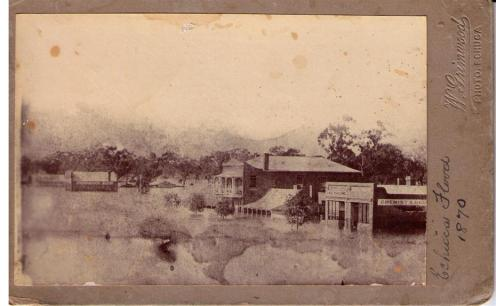 The Floods in Echuca / Moama in 1870