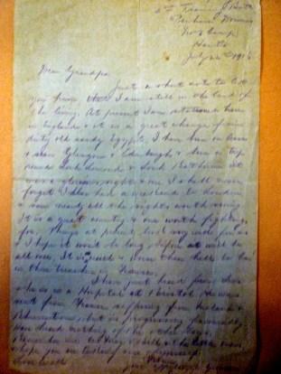July 16 1916 Letter from grandson Jack Elvins