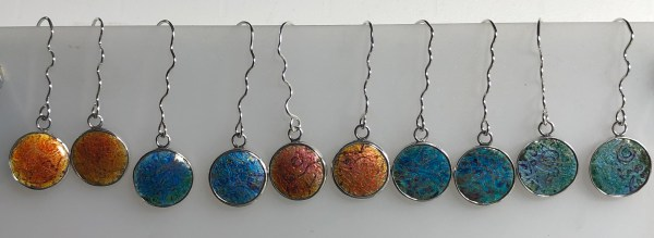 Silver and enamel earrings part of my Indian Memories range inspired by my travels in India