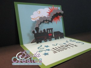 Cricut Train Card Linda Creates - Linda Caler www.lindacreates.com