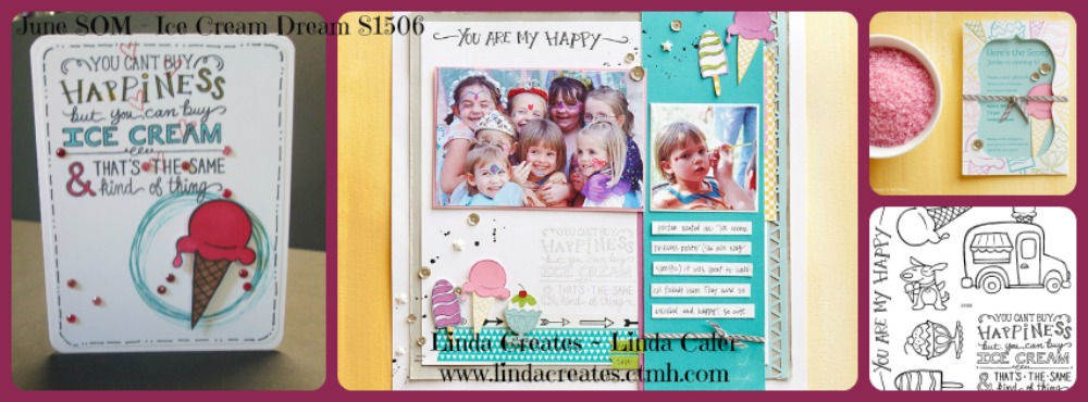June Stamp Of The Month S1506 Ice Cream Dream