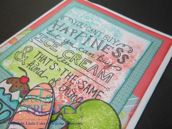 S1506 Ice Cream Dream Card 3 Linda Creates~ Linda Caler www.lindacreates.com