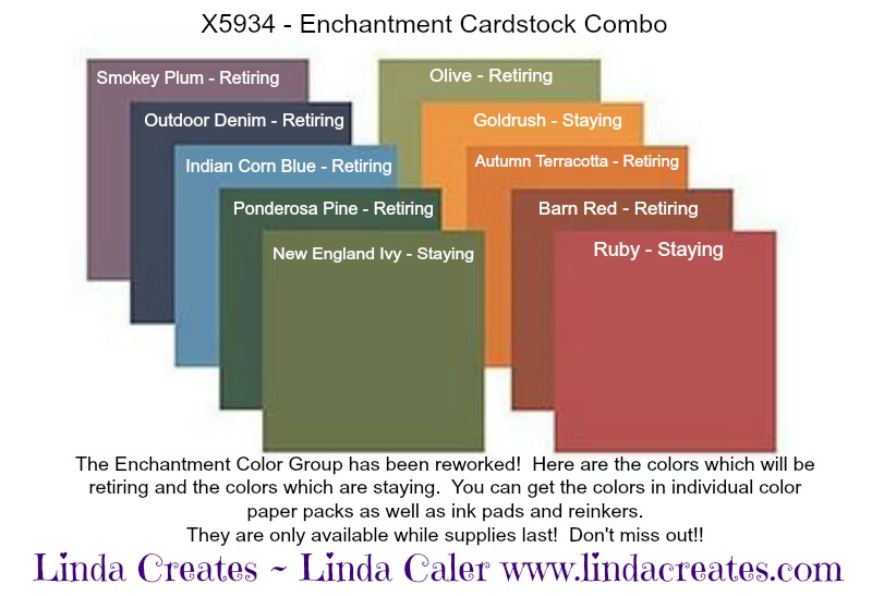 Retiring CTMH colors, Linda Creates - www.lindacreates.com