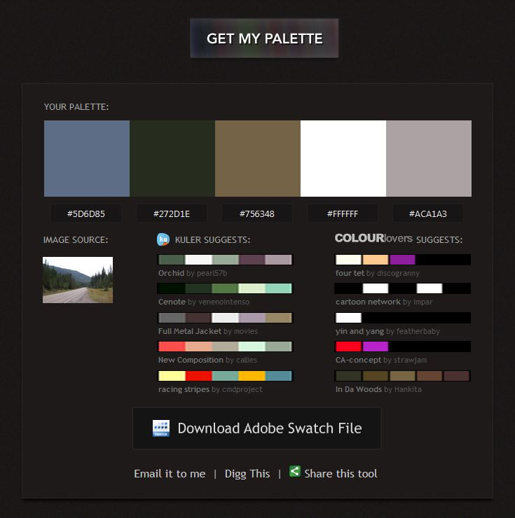 5304 color palette