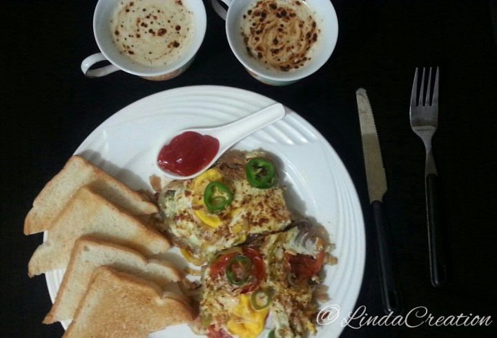 Fried Eggs with Cuppa Coffee