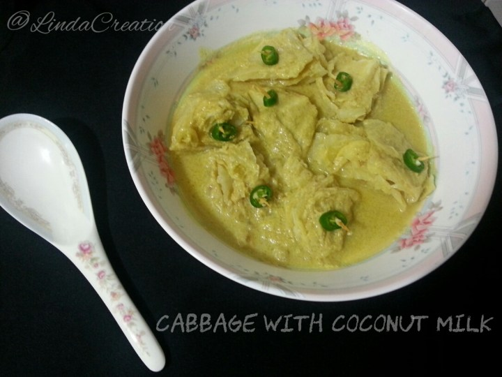Cabbage with Coconut Milk / Roce