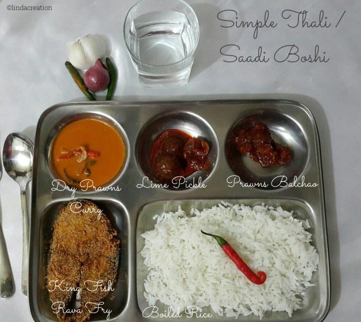 Simple Thali / Saadi Boshi #6