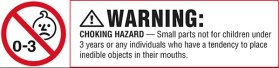 Choking Hazard label