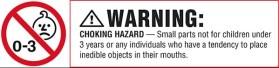 Choking Hazard label