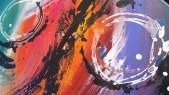 Tableau abstrait moderne, peinture abstraite moderne réalisé à la main