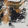 Tableau abstrait contemporain peint à la main