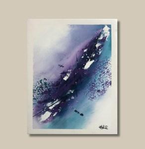 Tableau abstrait violet et bleu - Funchal