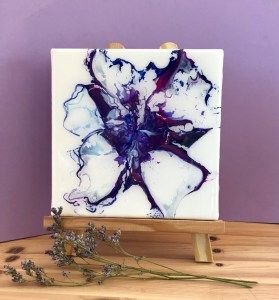 tableau artfluide violet