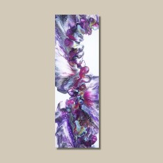 tableau abstrait bleu violet rose