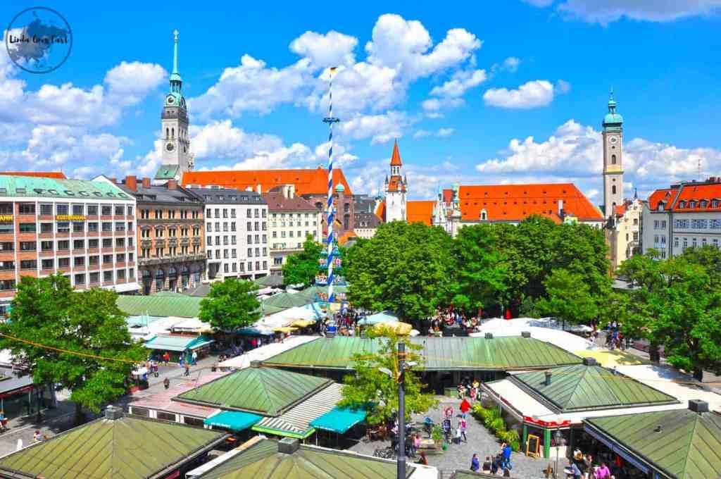 view of Viktualienmarkt from my room