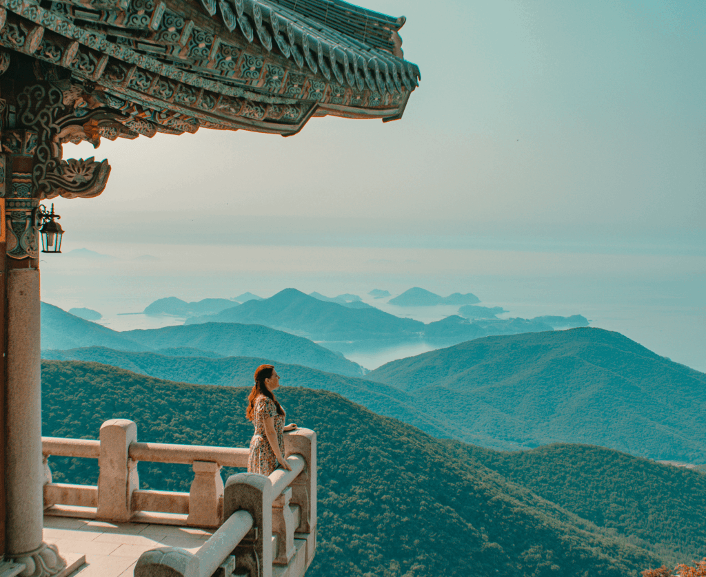 view from Boriam hermitage in Namhae