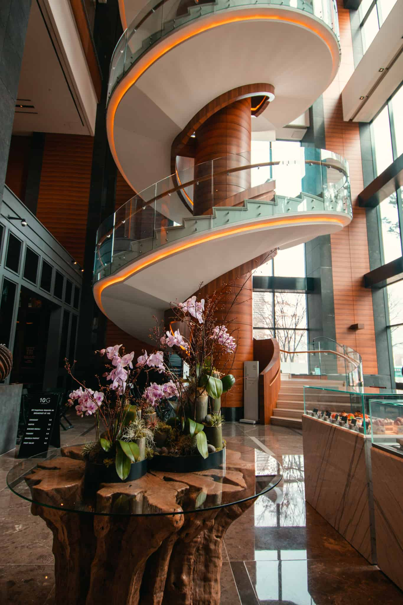 tallest spiral staircase in Korea at the hotel