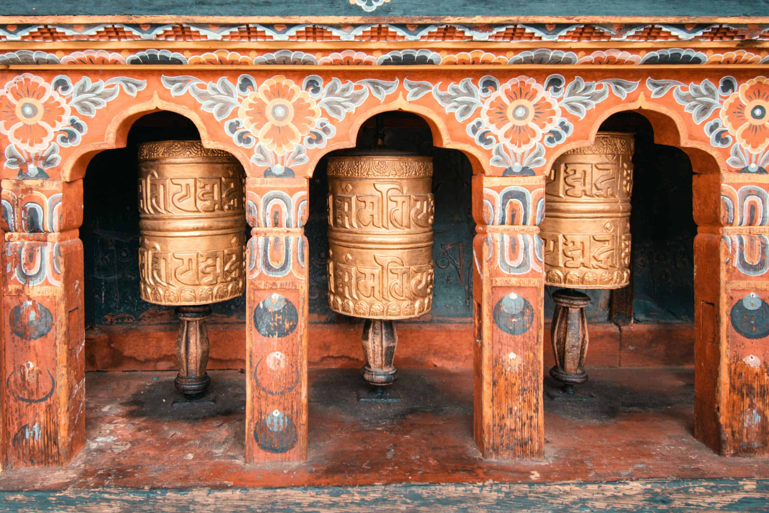 Bhutanese Prayer Wheels