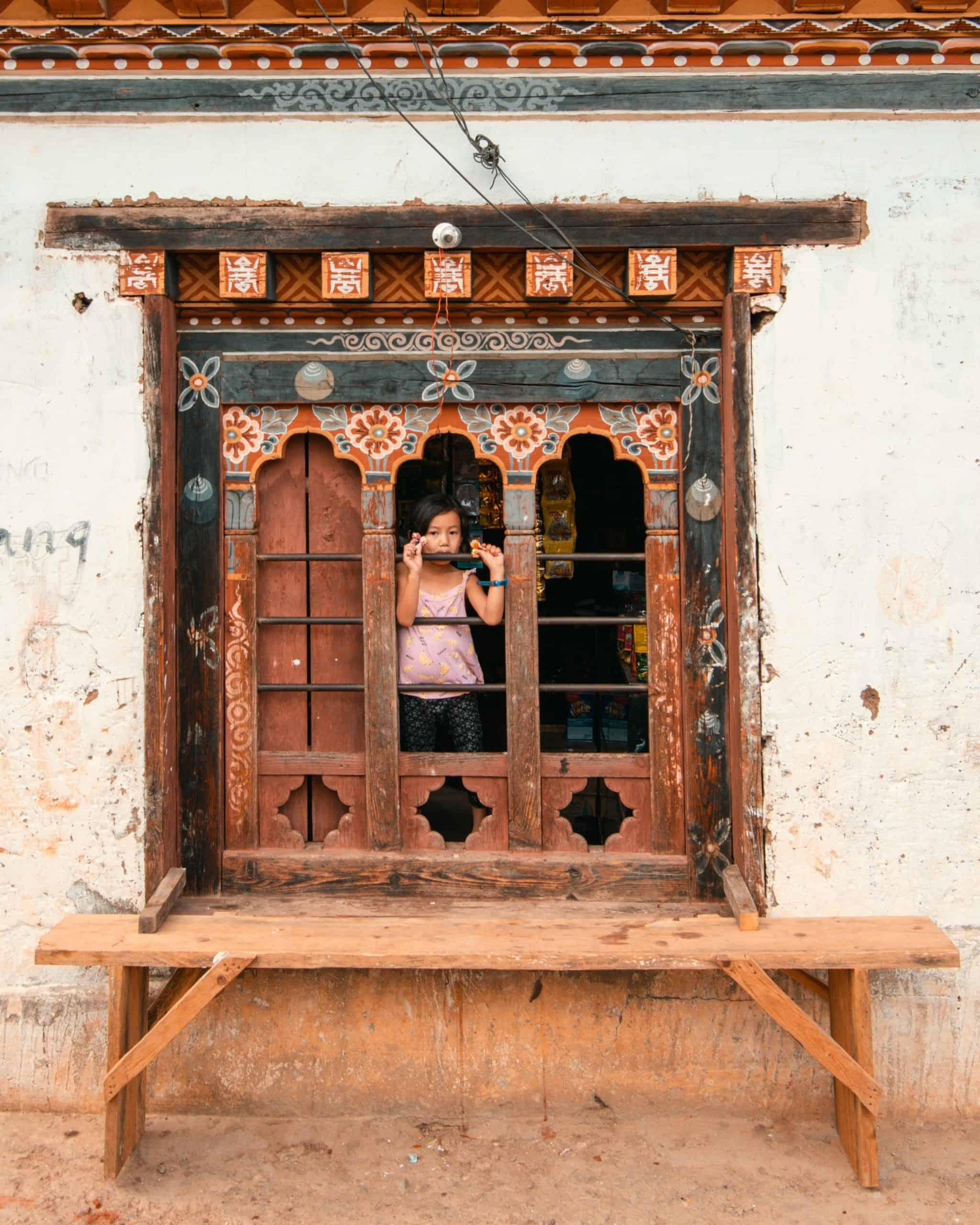 girl in Bhutan
