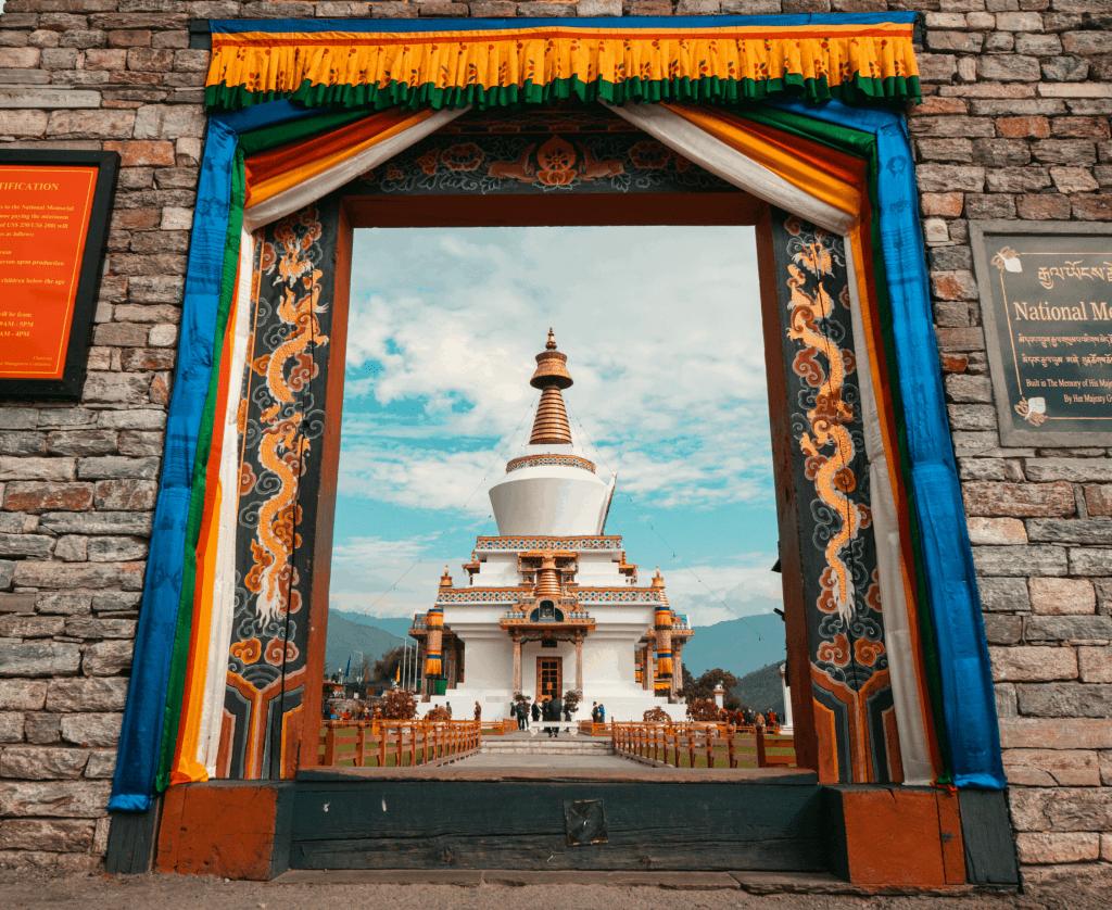 Bhutan Travel Memorial Chorten in Thimphu