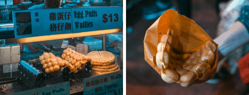 Must-Try Hong Kong Food Tour Egg Puffs