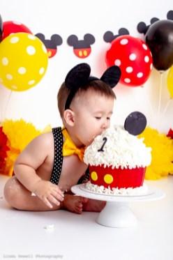 1st birthday cake smash Perth photography studio 014