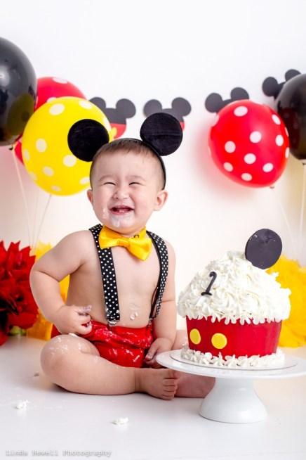 1st birthday cake smash Perth photography studio 016