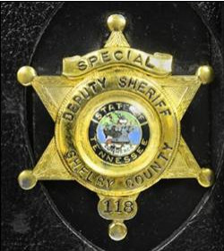 Elvis' first Shelby County badge