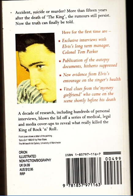Orion Paperback The Death of Elvis Back Cover