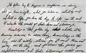 Elvis handwriting inspiring excerpt from letter