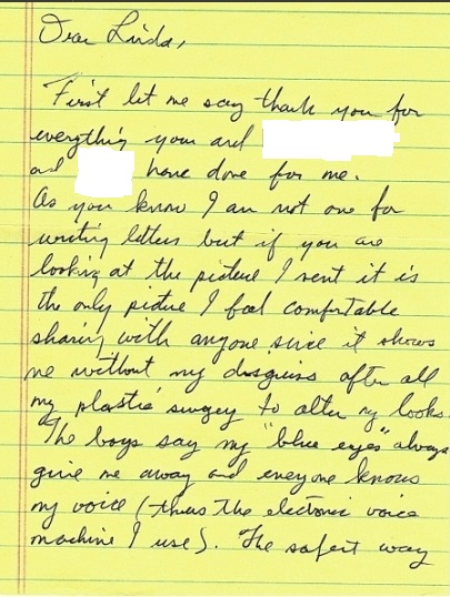 Jesse's letter from the page of his letters to me from my site 3