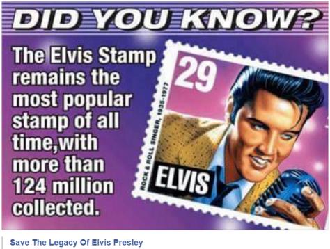 Elvis stamp largest seller of all time