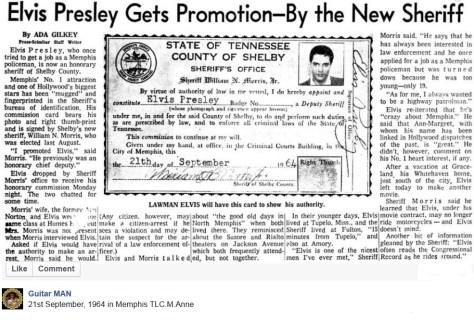 Elvis Shelby County Sherriff