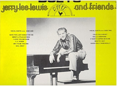 Jerry Lee Lewis Duets back cover of album