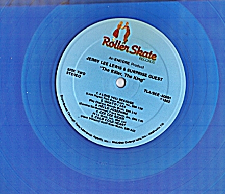 The Killer, The King blue vinly record label ...with surprise guest