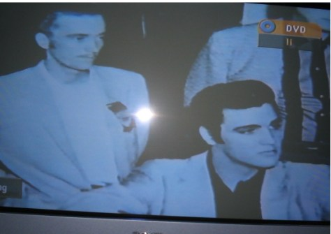 Gene Smith with Elvis TV screen