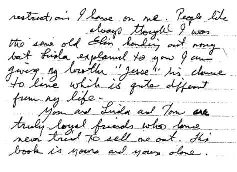 Jesse's letter for the book 1