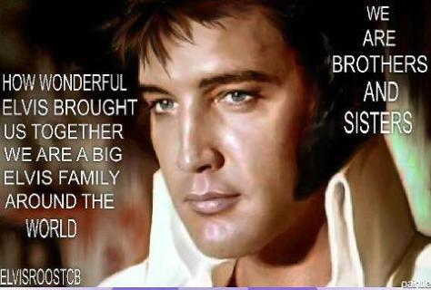 Elvis We are brothers and sisters image