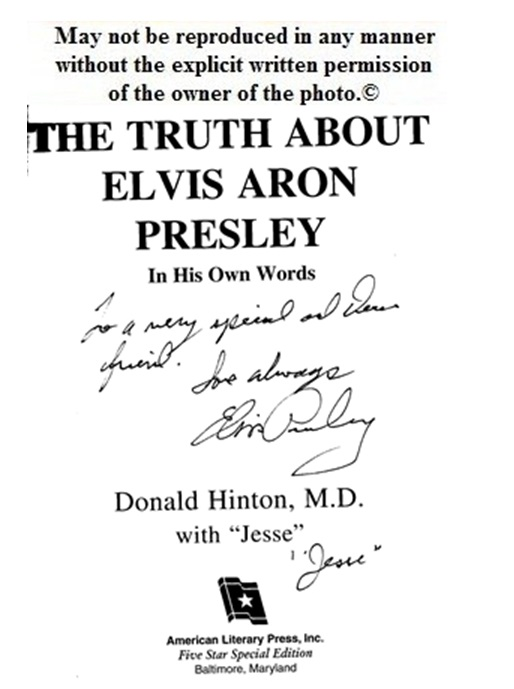 Autographed page of my copy of Jesse's book