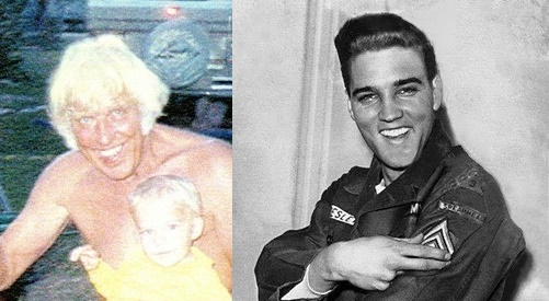 Elvis in Army and Jesse with Ben