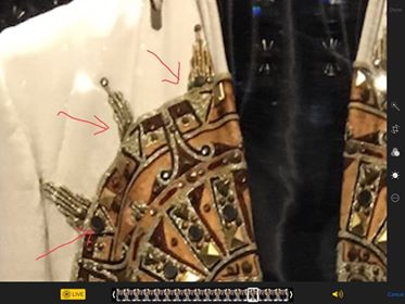 Jesse's Sundial suit showing 7s.