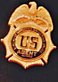 Elvis' DEA Badge on display Graceland enlarged retired