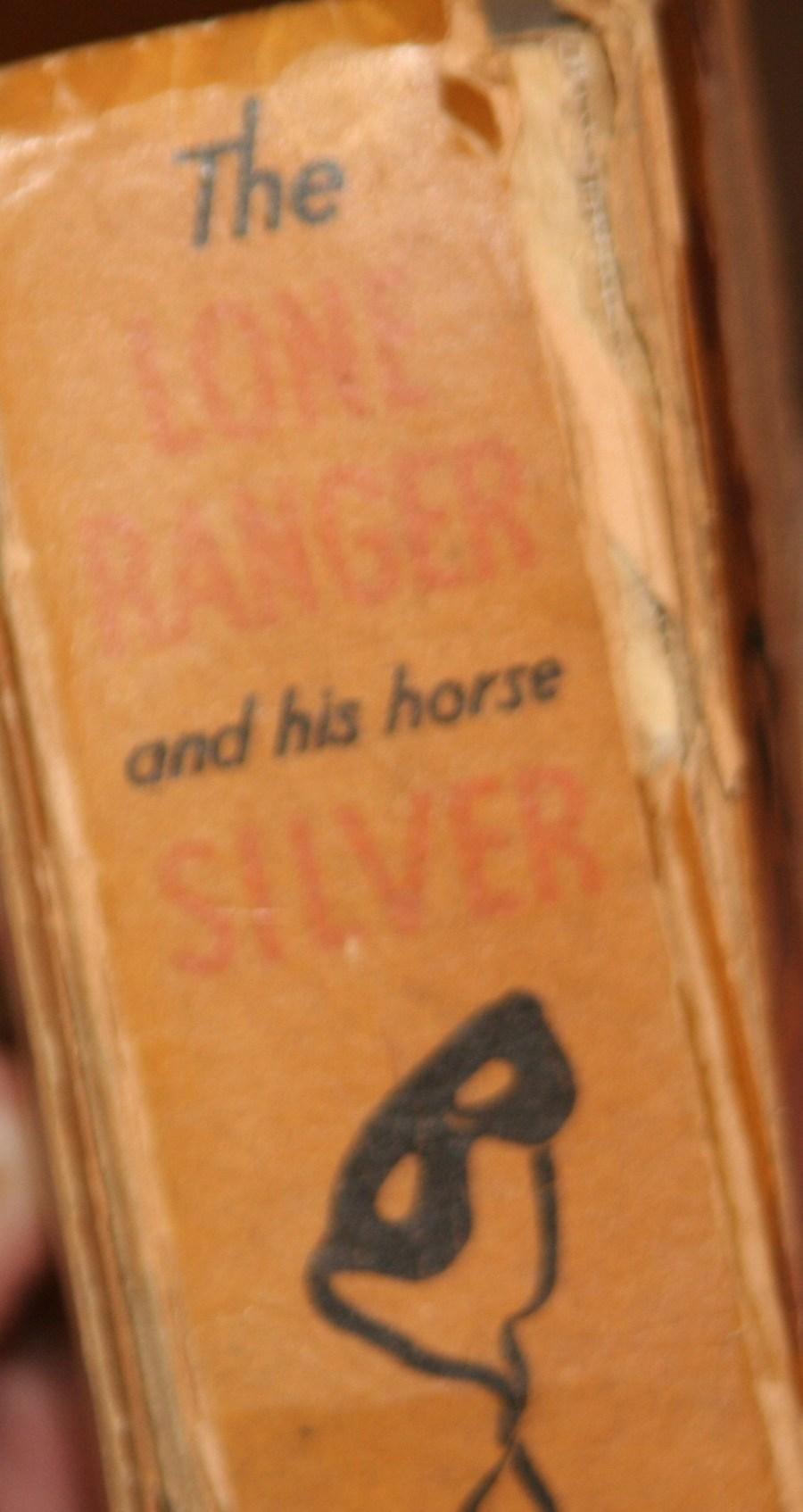 Elvis Jesse Lone Ranger Spine of book