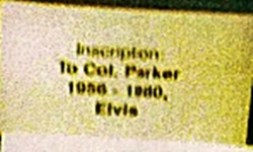 Elvis watch gift to Col. Parker in 1980 inscription only