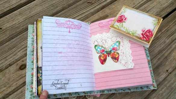 Flowers and Lace Fabric Cover Junk Journal