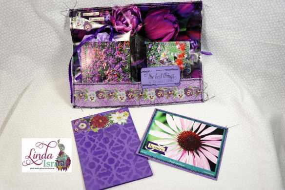 Purple Junk Journal Page Tutorial