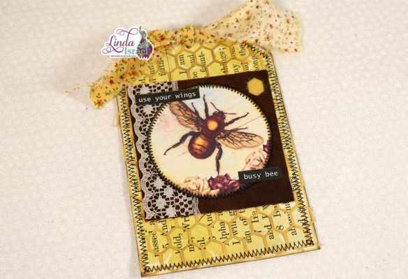 Vintage Bee Tag Tutorial